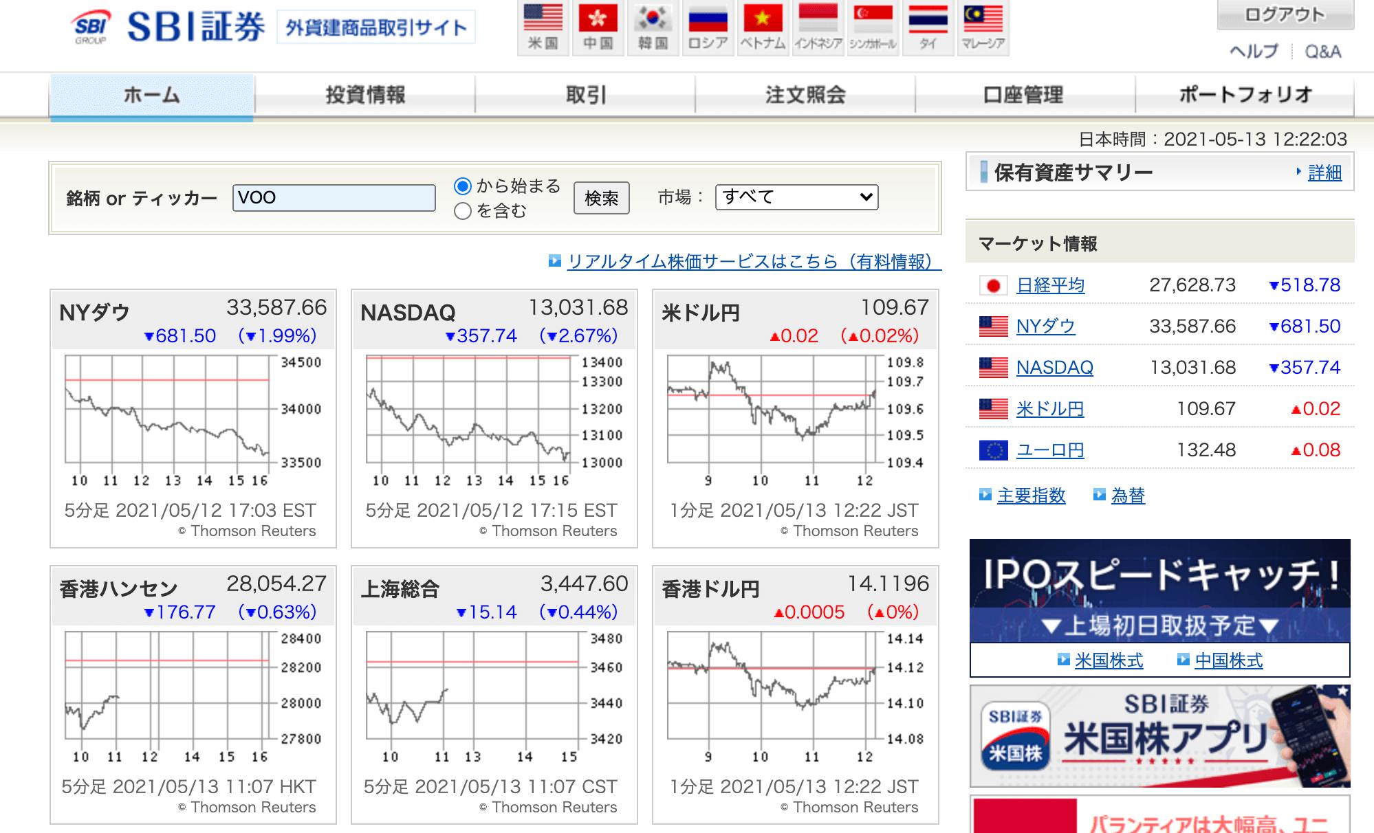 SBI証券ETF_VOO